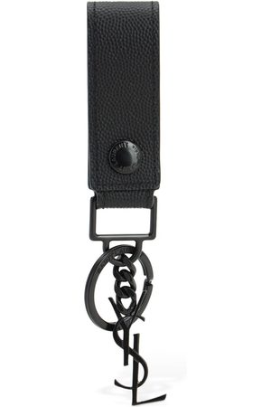 Saint Laurent Monogram Leather Key Holder