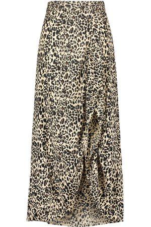 Boohoo Plus Ruffle Maxi Skirt