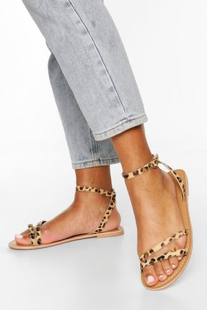 Boohoo Leather 2 Part Sandals