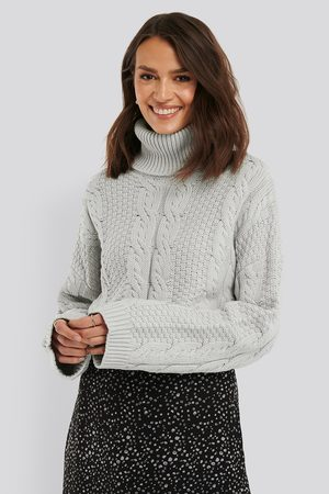 NA-KD Dame Pologensere - High Neck Knitted Sweater