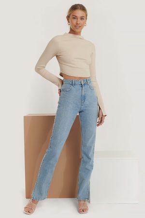 NA-KD Dame High waist - Rette Jeans Med Høyt Liv