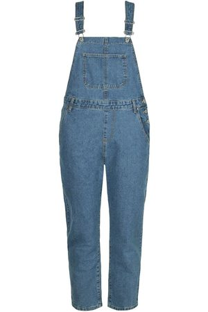 Boohoo Plus Denim Boyfriend Dungarees
