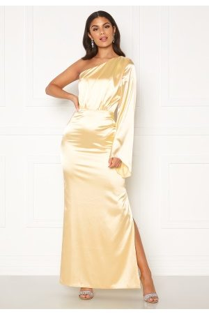 Nicole Falciani X Bubbleroom Dame Selskapskjoler - Nicole Falciani Satin Gown Gold-coloured 36