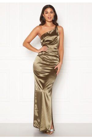 Nicole Falciani X Bubbleroom Dame Selskapskjoler - Nicole Falciani Pleat Gown Green 34