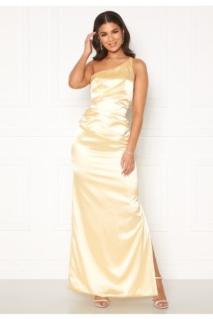 Nicole Falciani X Bubbleroom Nicole Falciani Pleat Gown Yellow 44