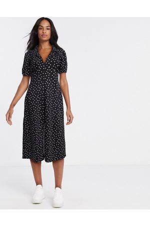 ASOS Dame Hverdagskjoler - Ultimate midi tea dress in polka dot-Black