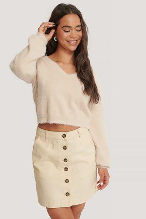 NA-KD Dame Skjørt - Buttoned Denim Skirt