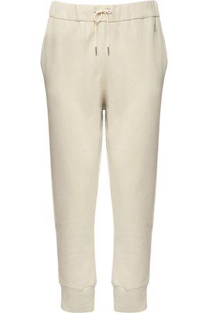 Jil Sander Logo Embroidery Cotton Sweatpants