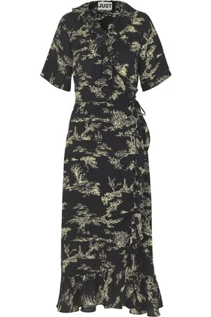 Just Female Dame Maxikjoler - Mako Maxi Wrap Dress Garden aop