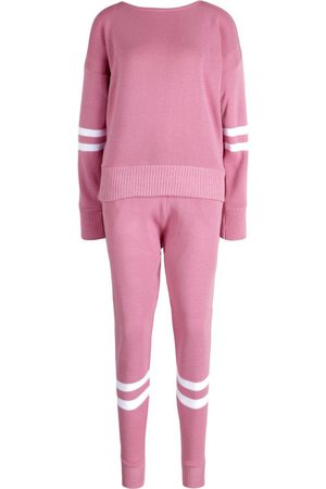 Boohoo Stripe Knitted Tracksuit