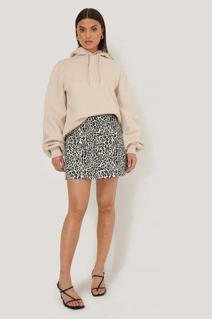 NA-KD Dame Miniskjørt - Leopard Print Mini Skirt - ,