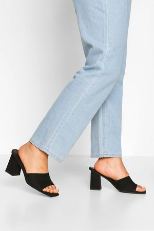 Boohoo Wide Fit Square Toe Mules