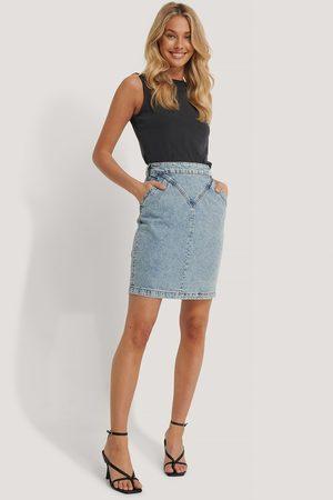 NA-KD Front Yoke Denim Skirt