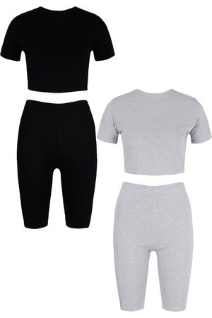 Boohoo 2 Pack Cap Sleeve Top & Cycling Shorts Co-ord