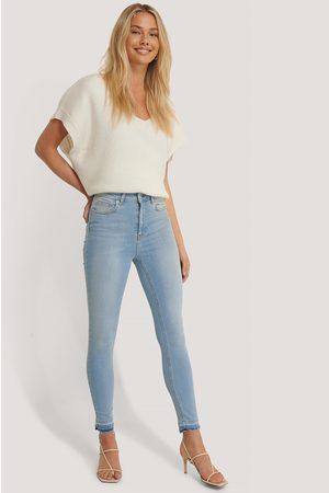 NA-KD Dame High waist - Skinny High Waist Open Hem Jeans