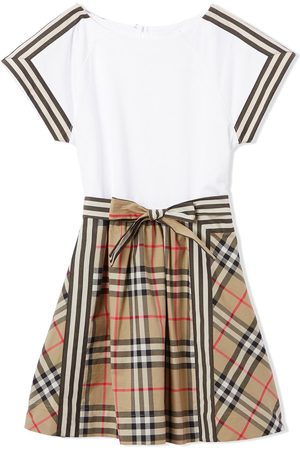 Burberry Vintage check detail bow dress