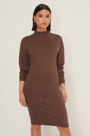Selma Omari x NA-KD Long Sleeve Jersey Dress