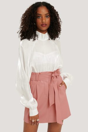 NA-KD Dame Miniskjørt - PU Belted Skirt