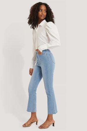 NA-KD Dame High waist - Skinny Jeans Med Sleng