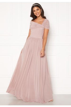 Nicole Falciani X Bubbleroom Dame Maxikjoler - Nicole Falciani Mesh Gown Pink 34