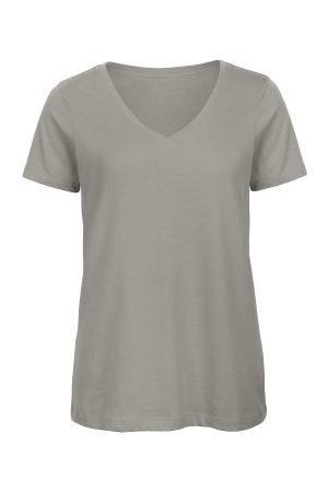 B & C Collection Dame Kortermede - B and C Organic Inspire Women T-shirt V-Neck * Fri Frakt