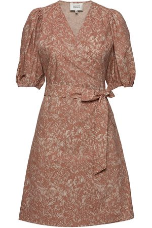 Second Female Straw Ss Short Dress Kort Kjole Beige