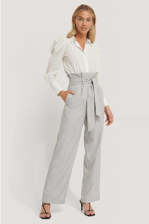 NA-KD Dame Chinos - Maxi Paperwaist Suit Pants