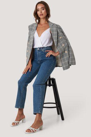 NA-KD Straight High Waist Jeans