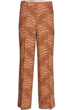 Orange Mønstrete  Paza Strikket bukser  By Malene Birger  Bukser - Dameklær er billig