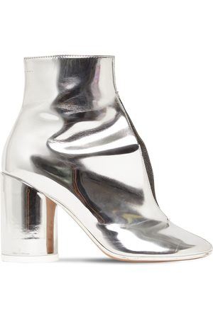 MM6 MAISON MARGIELA 90mm Metallic Leather Ankle Boots