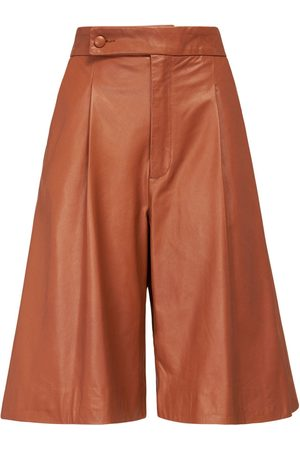 NYNNE Maud Leather Bermuda Shorts