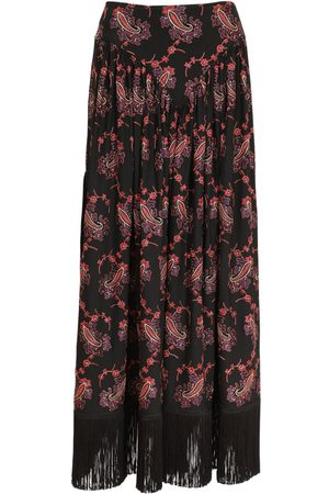 Paco rabanne Embroidered Stretch Jersey Midi Skirt