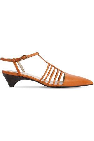 Stella McCartney 10mm Mid Heel Faux Leather Sandals