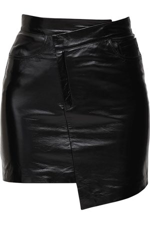 Zeynep Arcay Dame Miniskjørt - Asymmetric Patent Leather Mini Skirt