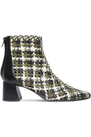 Souliers Martinez 50mm Woven Leather Ankle Boots