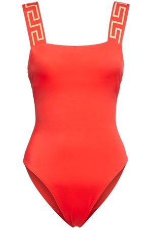 VERSACE Greek Strap One Piece Swimsuit