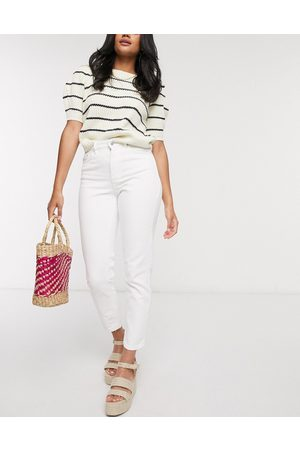 Vero Moda Mom jeans with high waist in white