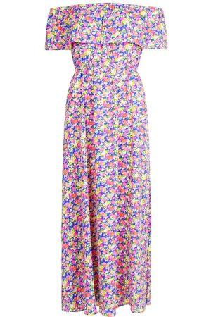 Boohoo Off The Shoulder Floral Maxi Dress