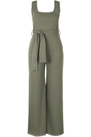 Boohoo Plus Contrast Stitch Belted Pocket Jumpsuit