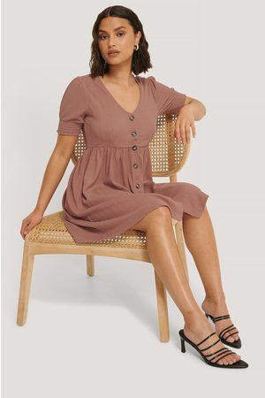 NA-KD Dame Hverdagskjoler - Button Up Jersey Dress