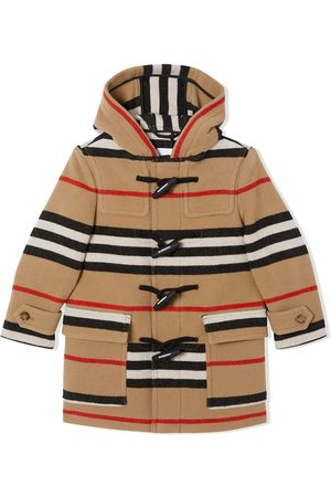 Burberry Icon Stripe duffle coat