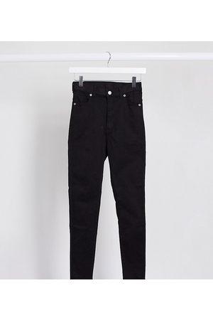 Dr Denim Moxy sky high waist skinny jeans-Black