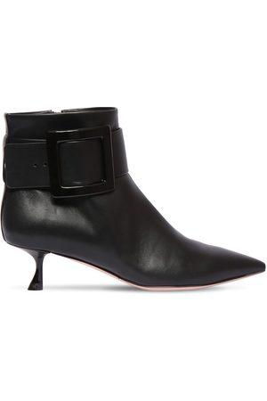 Roger Vivier Dame Skoletter - 45mm Leather Ankle Boots