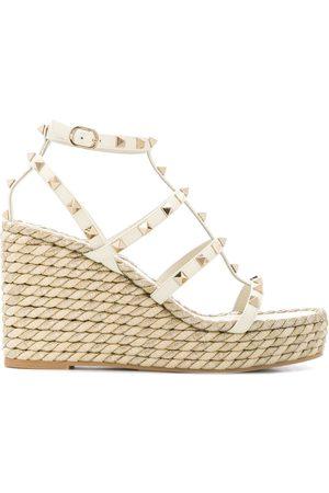 VALENTINO GARAVANI Dame Wedges - Rockstud rope wedge sandals