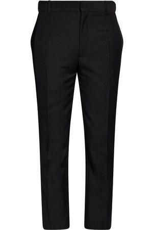Alexander McQueen 17cm Wool & Mohair Pants W/ Velvet Band