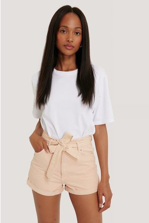 NA-KD Dame Shorts - Denim Belted Shorts