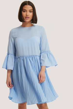 NA-KD Dame Sommerkjoler - Pleated Round Neck Dress