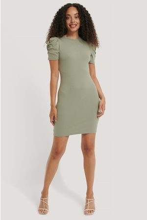 NA-KD Dame Hverdagskjoler - Puff Shoulder Short Sleeve Dress