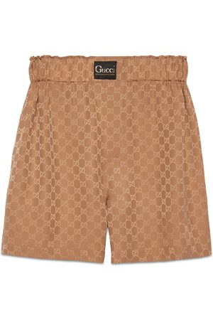 Gucci GG silk shorts with label
