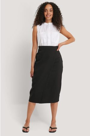 NA-KD Dame Midiskjørt - Tailored Overlap Midi Skirt